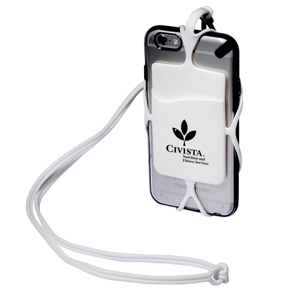 Strappy Mobile Device Pocket - White - Personalization Available