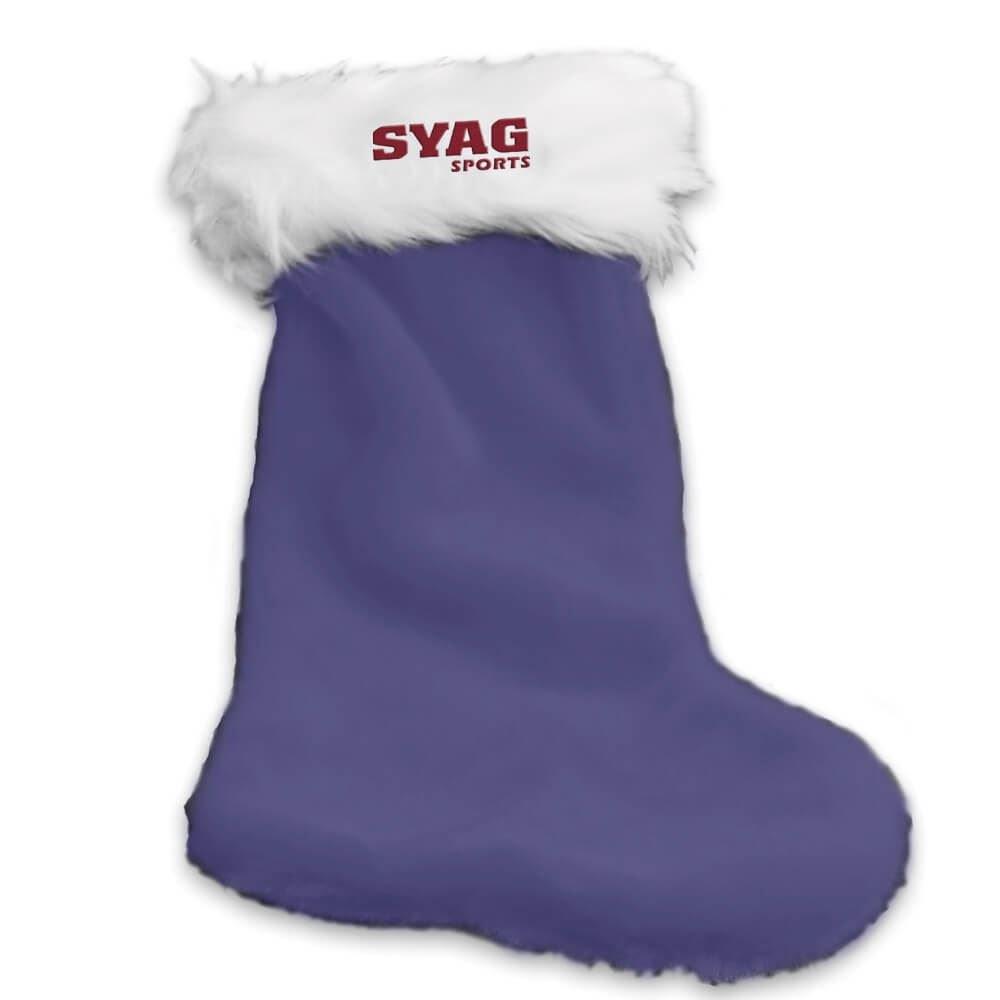 plush christmas stocking personalization available - Purple Christmas Stockings