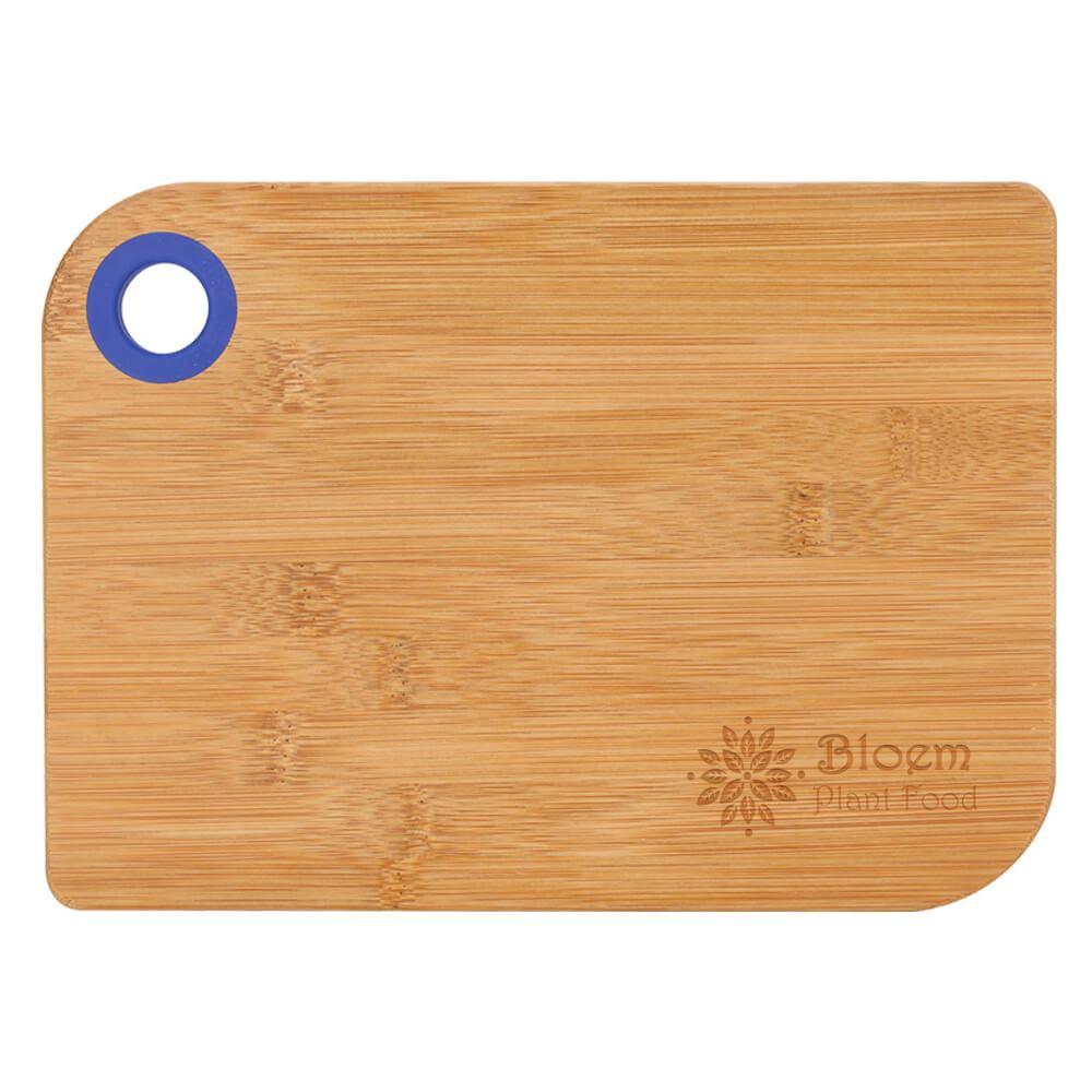 Bamboo Cutting Board with Silicone Thumb Ring - Personalization Available