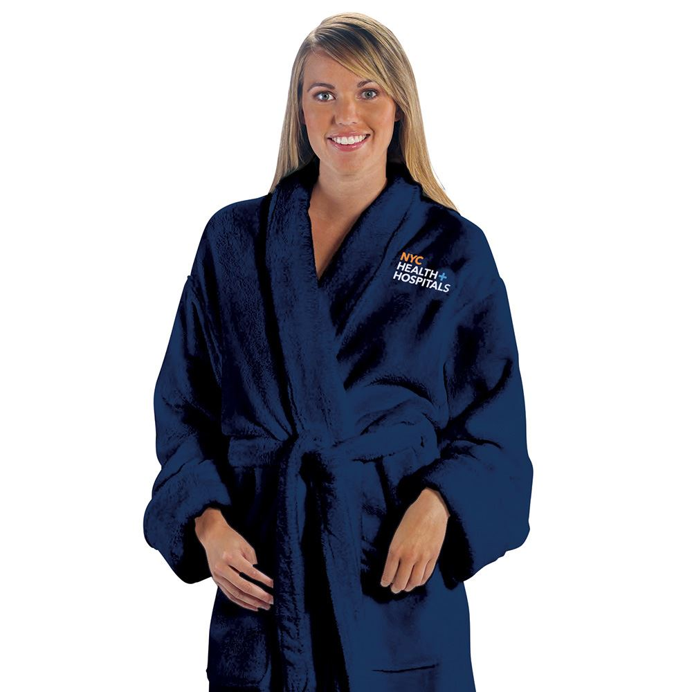 Tahoe Microfleece Shawl Collar Robe - Embroidered Personalization Available