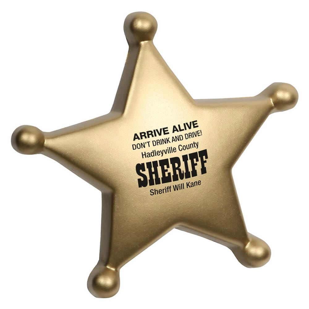 Sheriff's Badge Stress Reliever - Personalization Available
