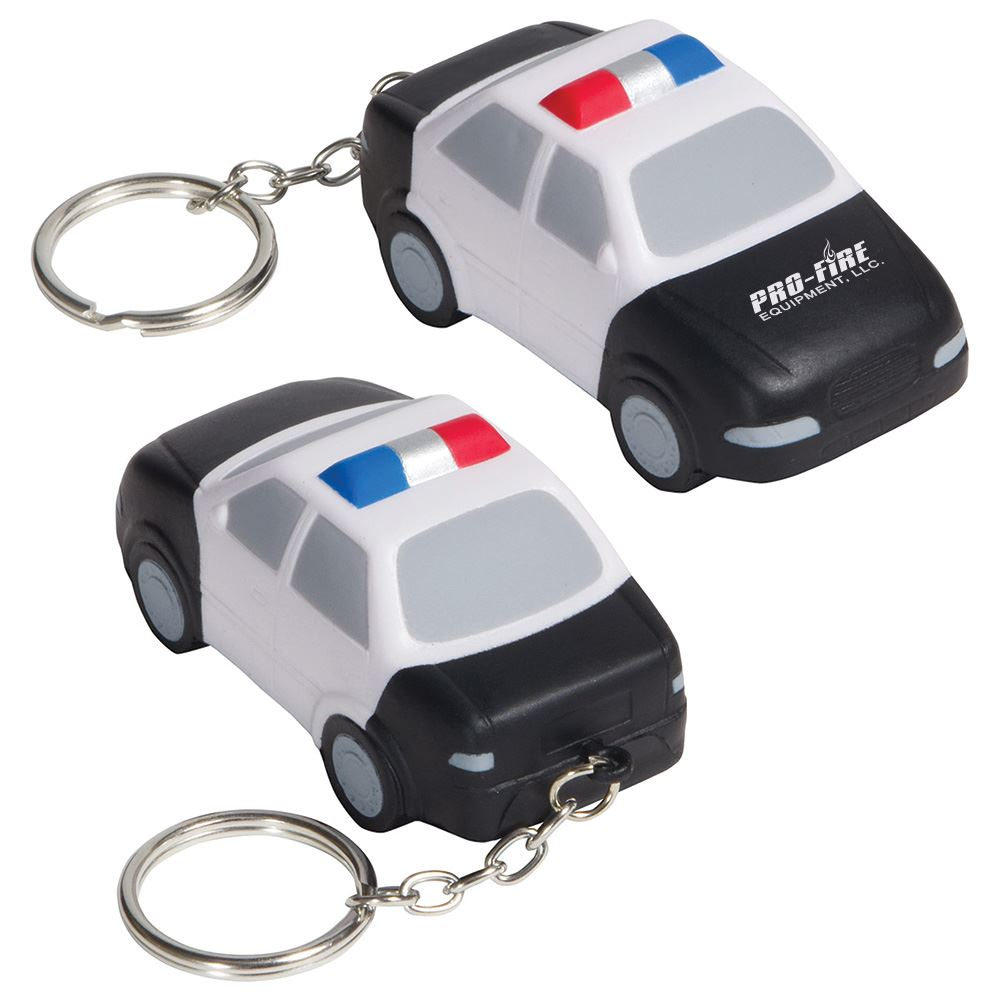 Police Car Key Chain Stress Reliever - Personalization Available