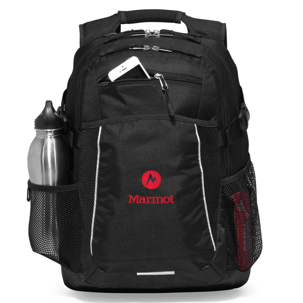 Black Pioneer Computer Backpack - Personalization Available