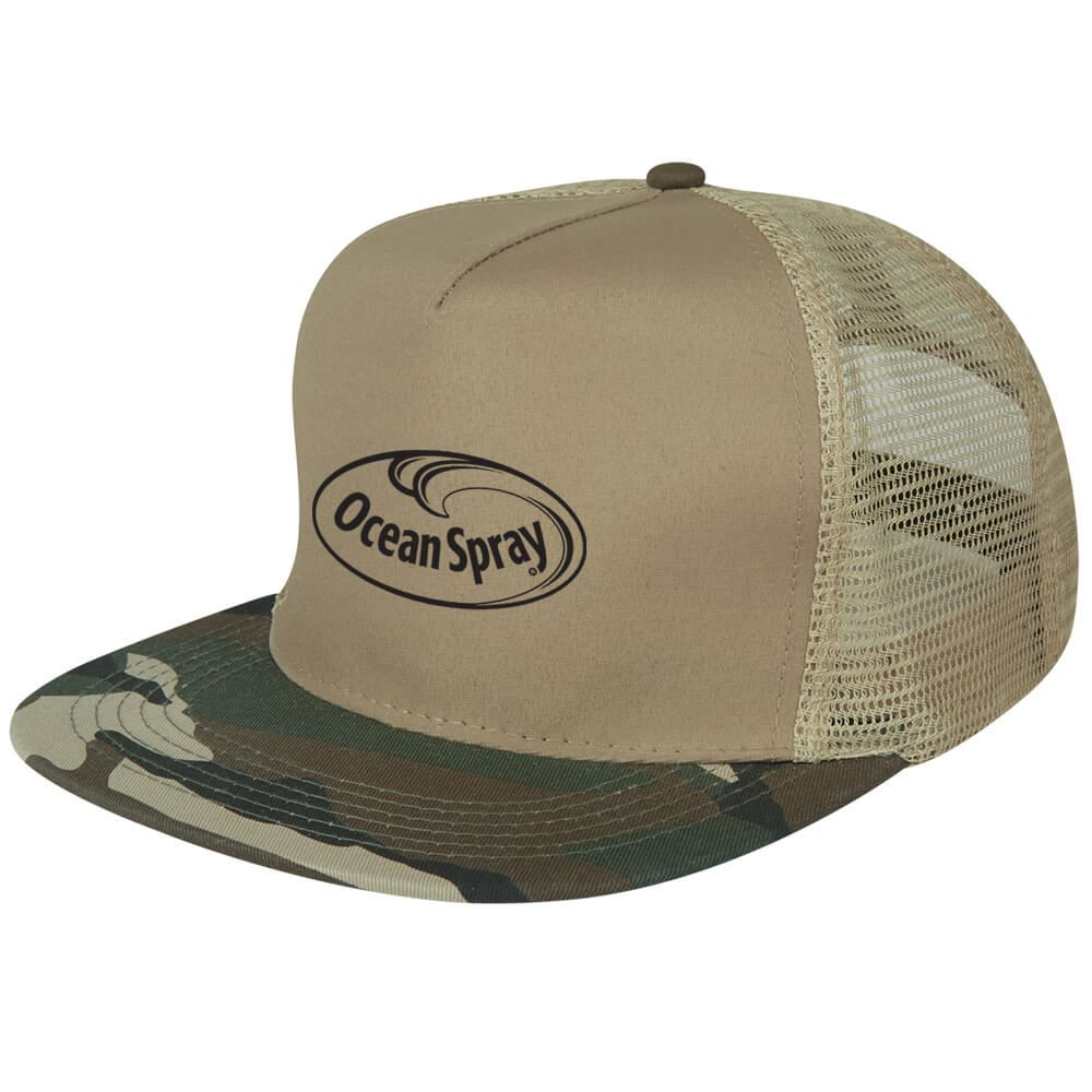Flat Bill Camo Cap - Personalization Available
