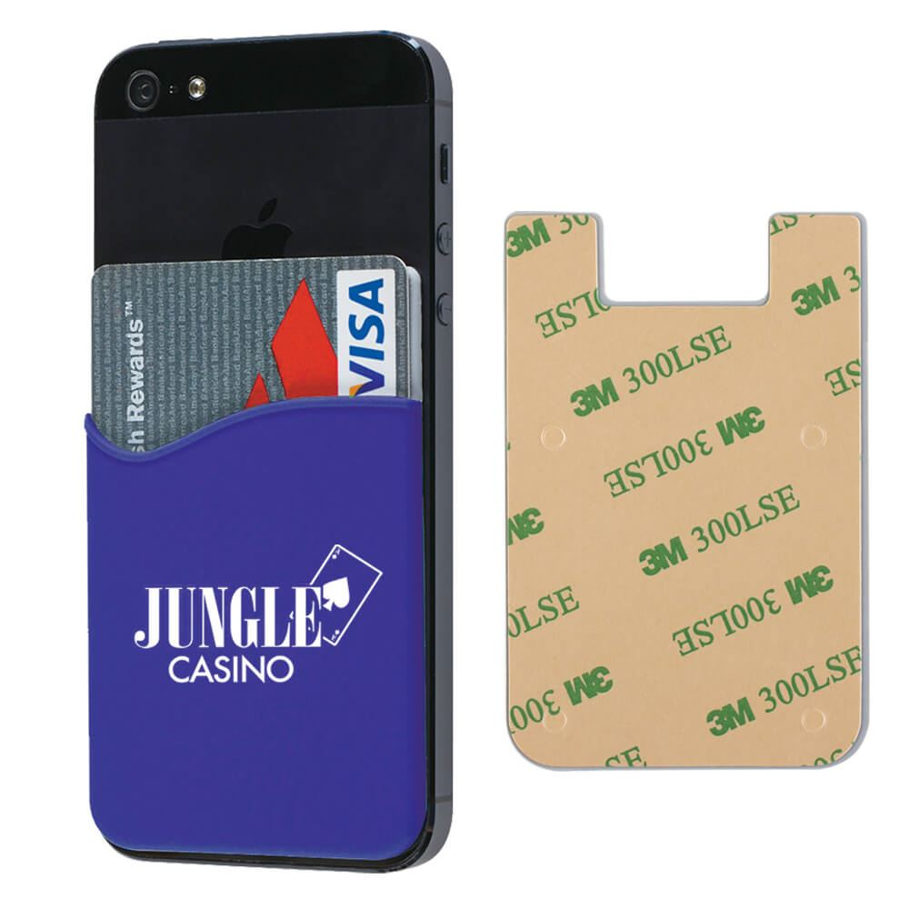 Silicone Phone Wallet - Personalization Available