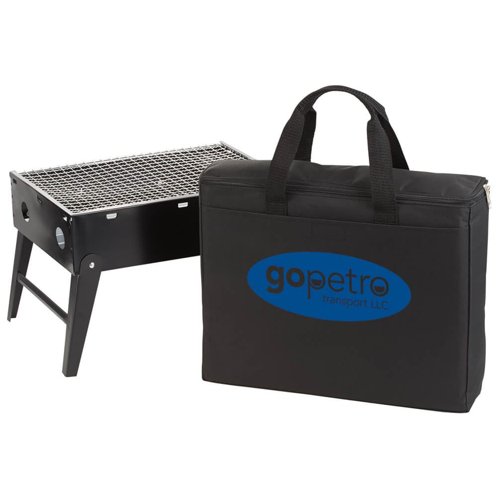 Portable Briefcase BBQ Grill - Personalization Available