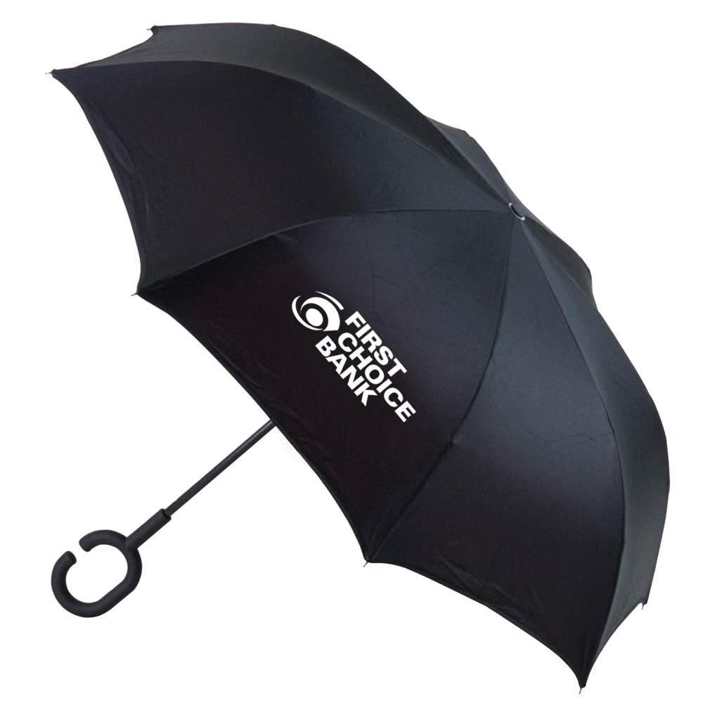 Stratus Reversible Umbrella - Solid - Personalization Available