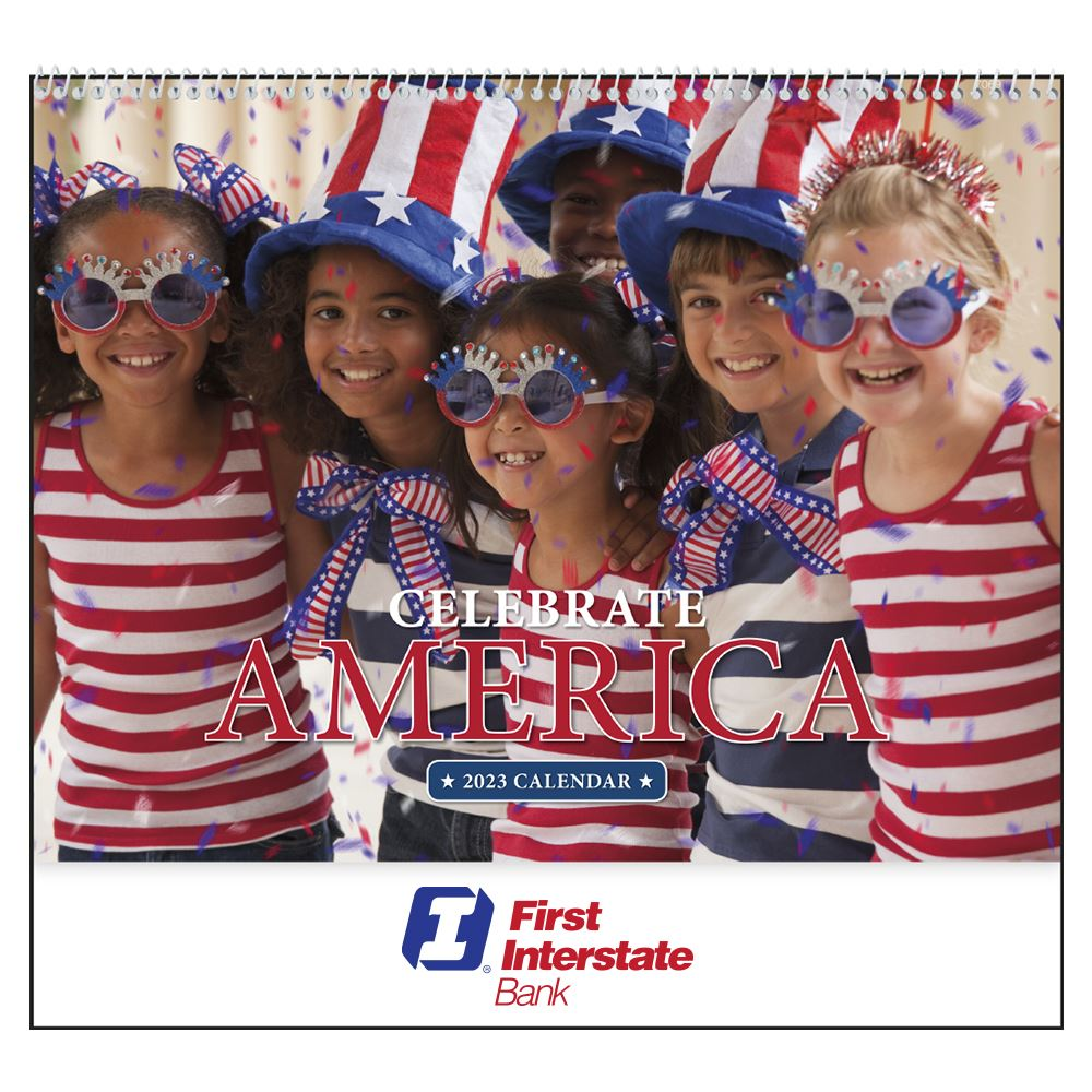 Celebrate America 2021 Wall Calendar - Spiral - Personalization Available
