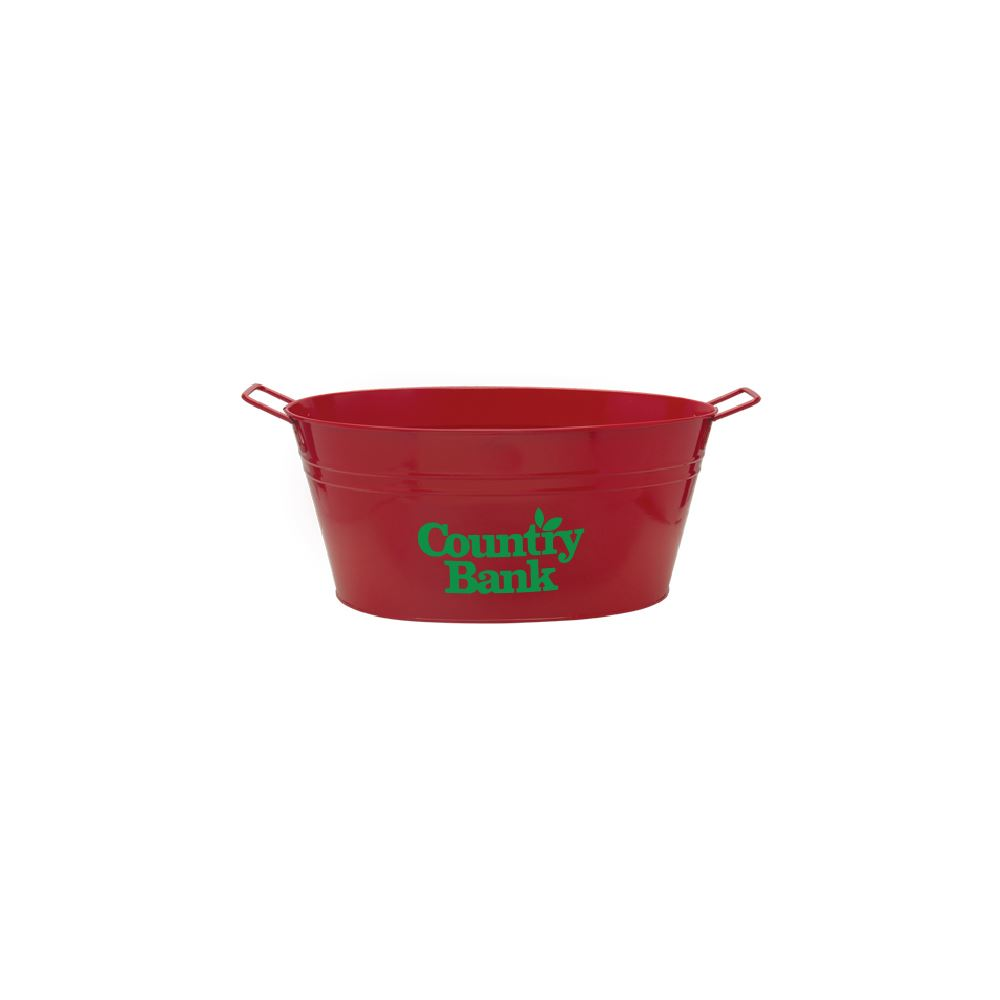 15-Qt. Galvanized Metal Tub - Personalization Available