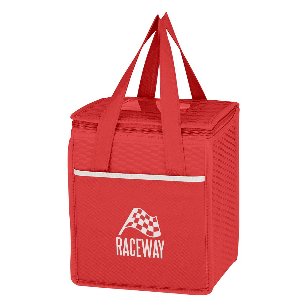 Non-Woven Wave Design Insulated Lunch Bag - Personalization Available