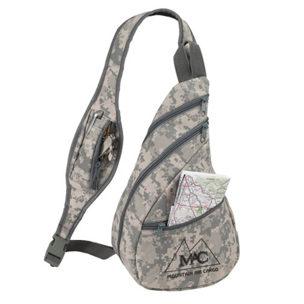 Digital Camouflage Crossbody Sling Backpack - Personalization Available