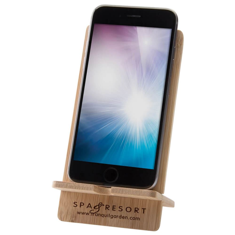 Bamboo Wood Cell Phone Stand - Personalization Available