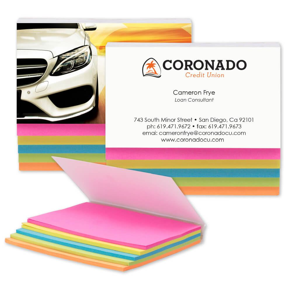 5-Color Sticky Notes - Personalization Available
