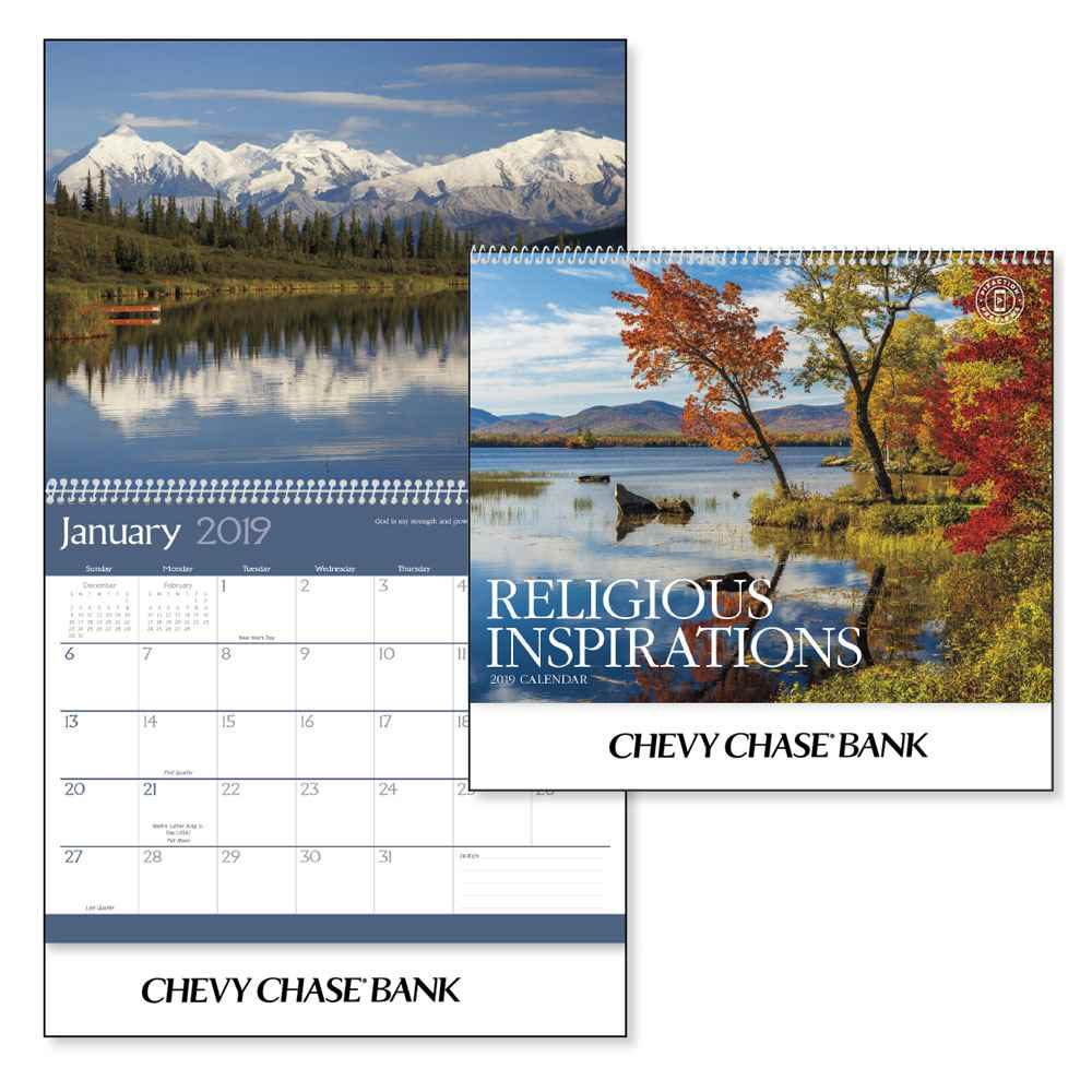 Religious Inspirations 2021 Deluxe Appointment Calendar - Spiral - Personalization Available