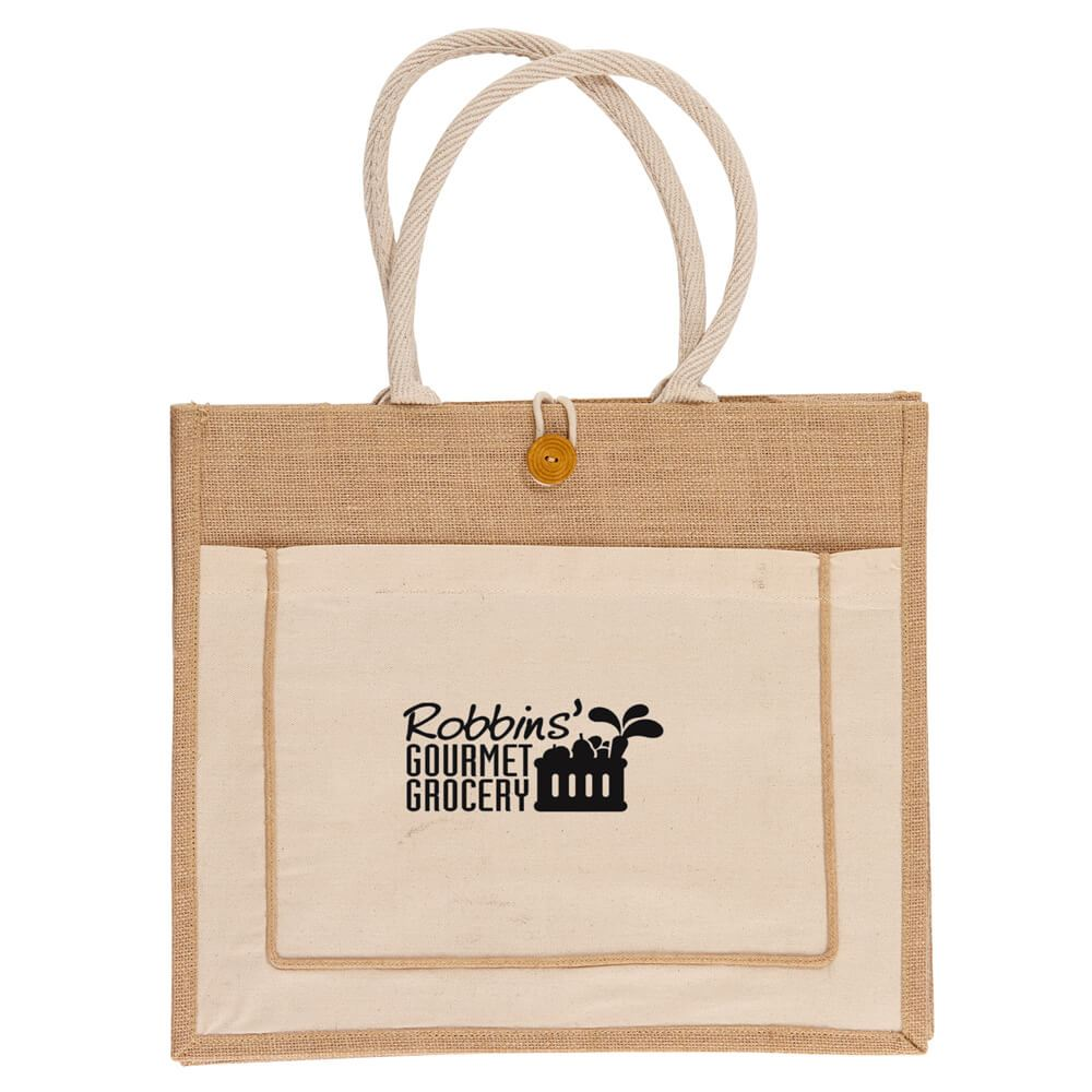 Jute Tote Bag - Personalization Available