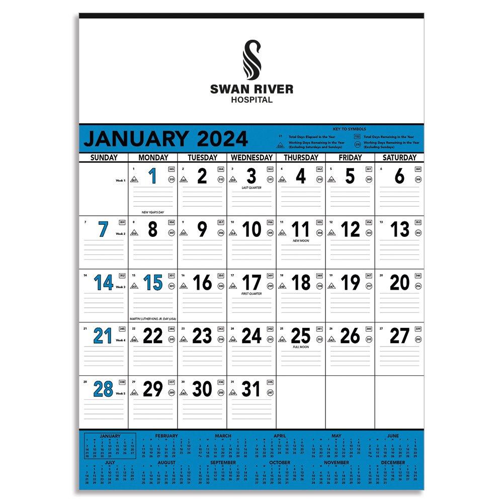 blue black 2018 contractor s memo calendar personalization