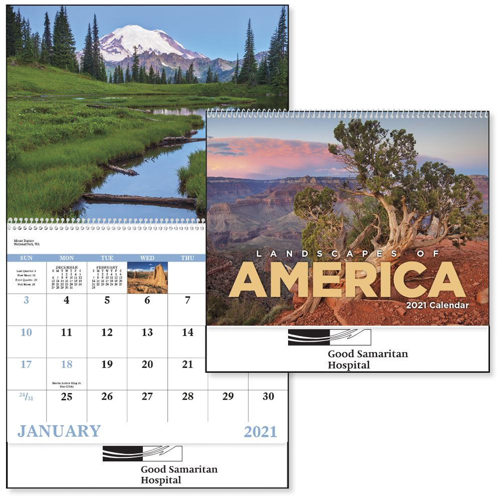 Landscapes Of America 2020 Spiral Calendar - Personalization Available