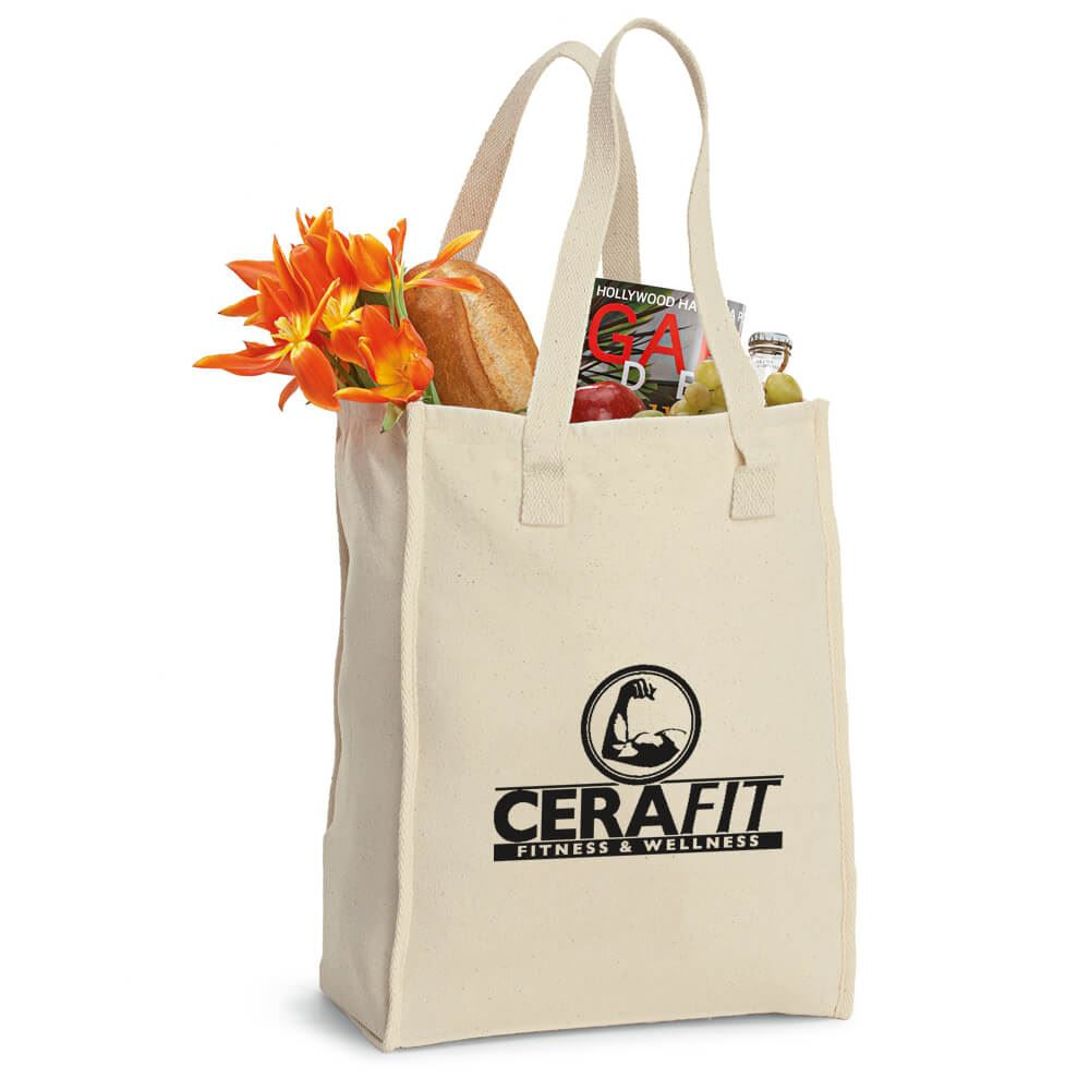 Recycled Cotton Market Bag - Personalization Available