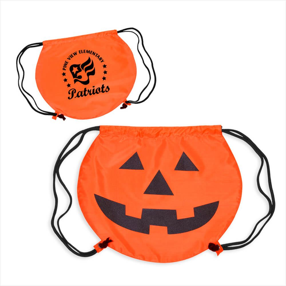 Pumpkin Drawstring Backpack - Personalization Available