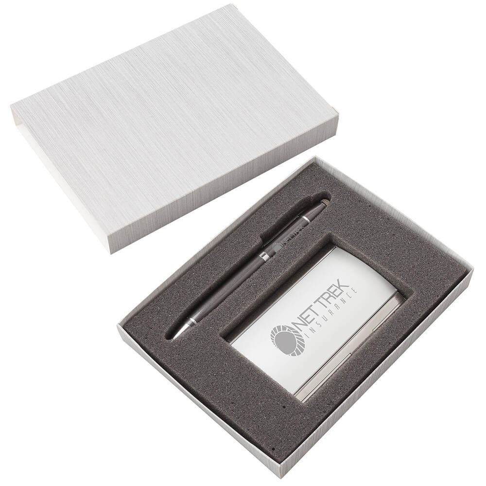 Remo Pen And Business Card Case Set - Personalization Available