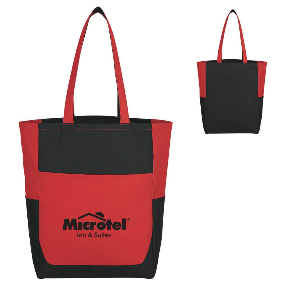 Triple Pocket Tote Bag - Personalization Available