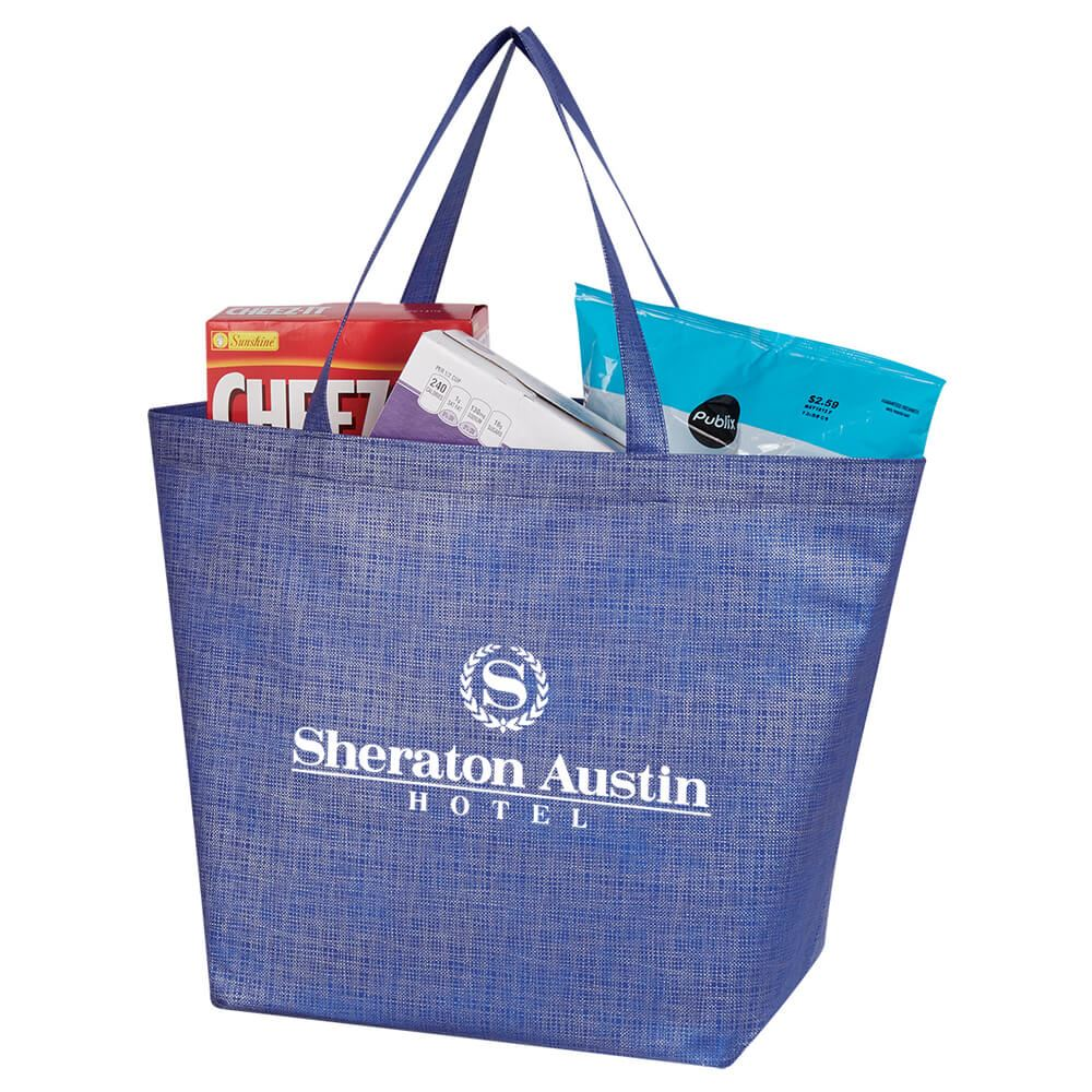 Non-Woven Crosshatched Tote Bag - Personalization Available