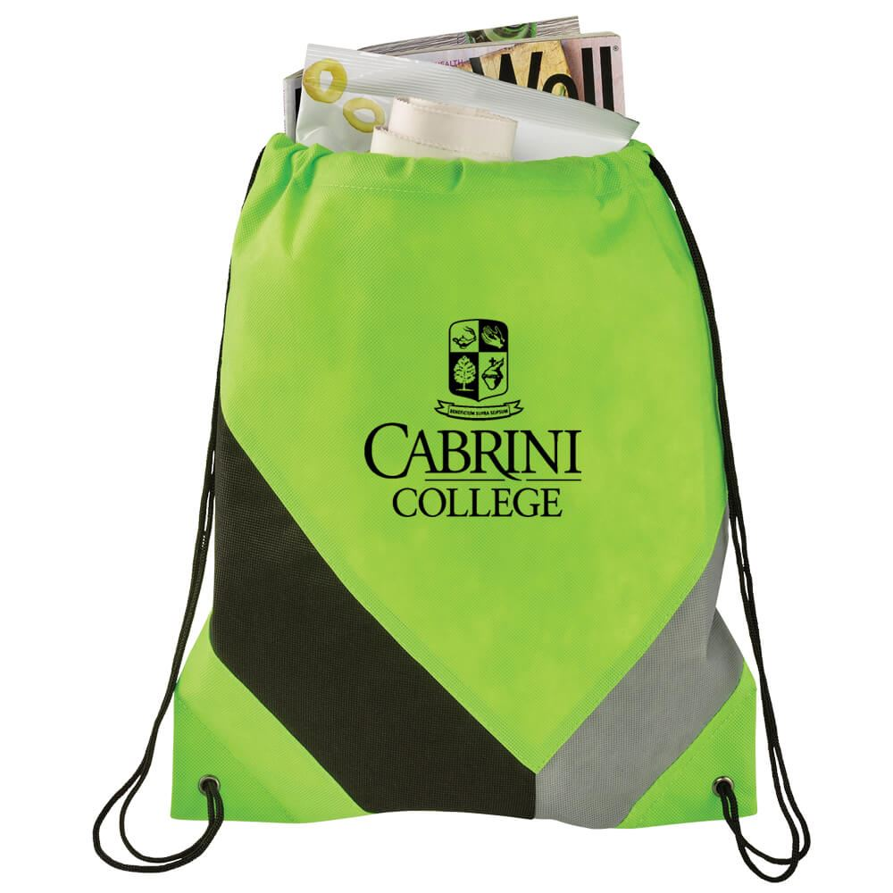 Non-Woven Slant Drawstring Sportspack - Personalization Available