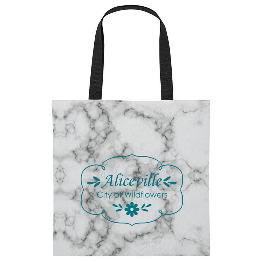 Marbled Tote Bag - Personalization Available