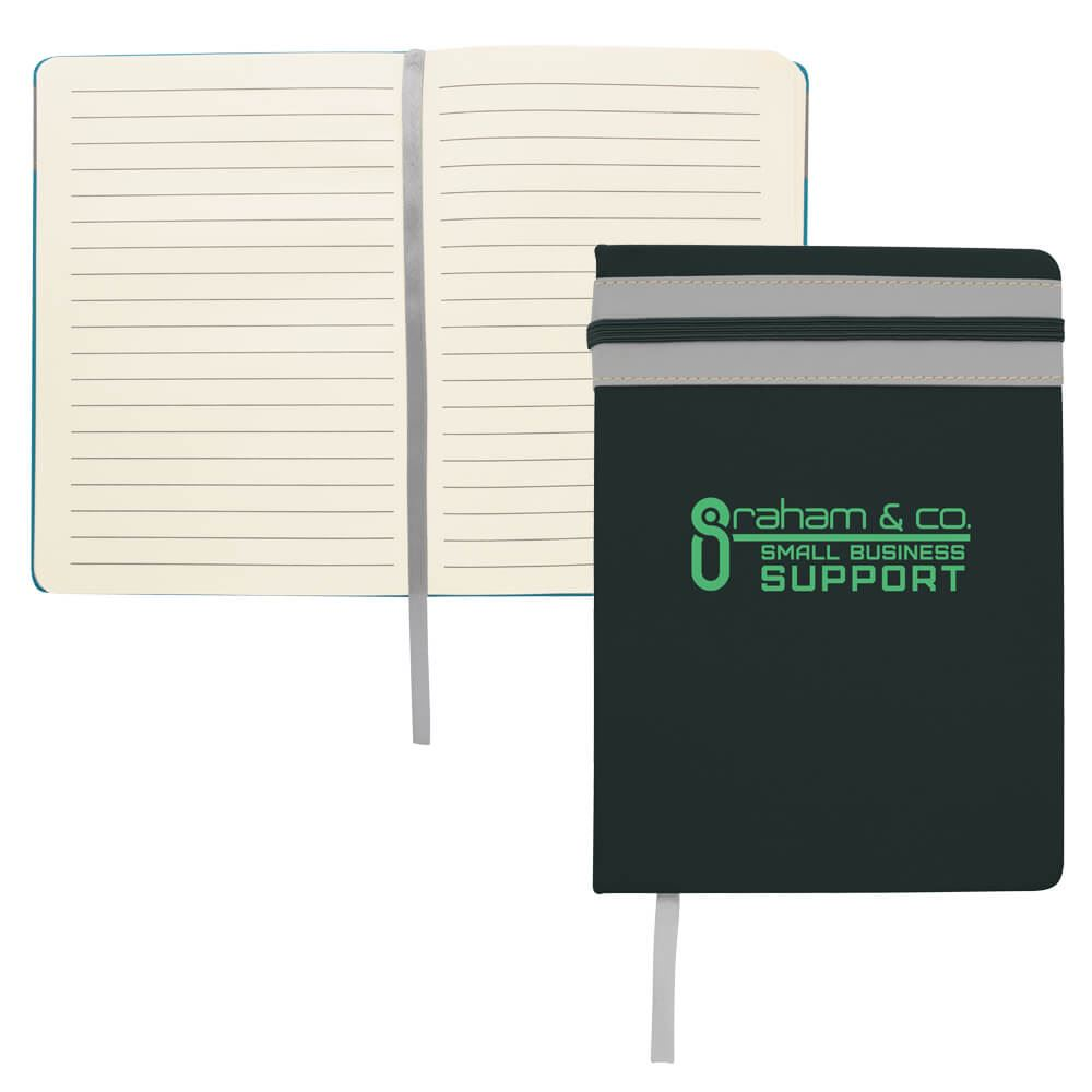Elastic Stripe Journal - Personalization Available