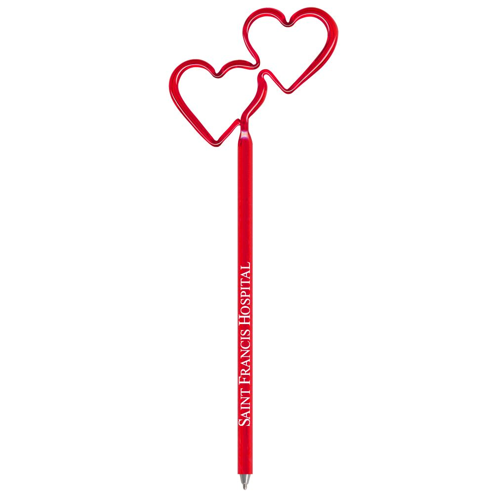 Double Heart Bentcil® Pen - Personalization Available