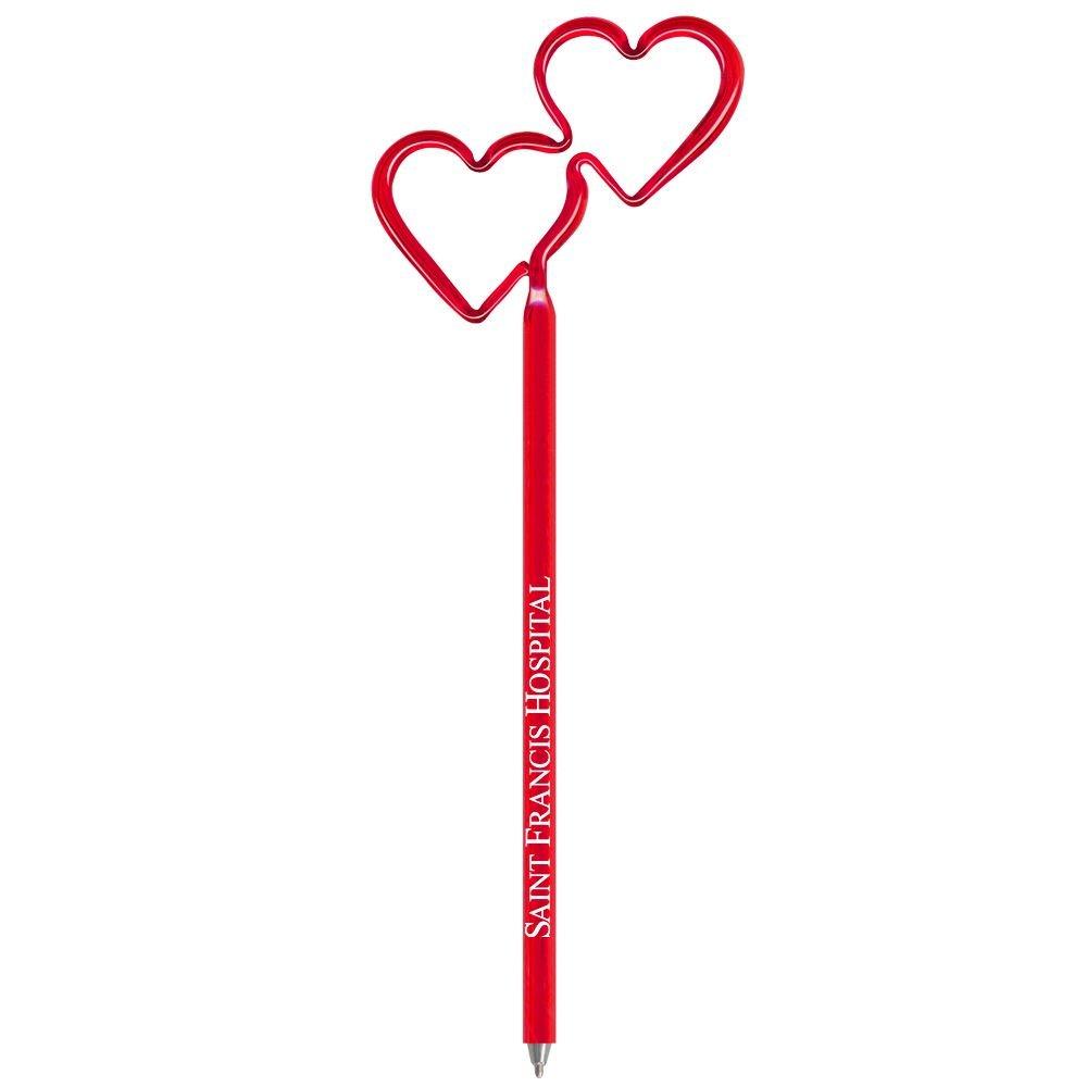 Double Heart Bentcil® Pen - Personalization Available