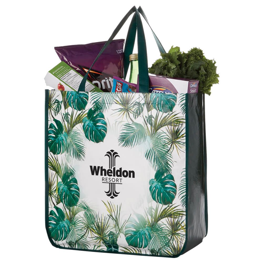 Palms Laminated Shopper Tote - Personalization Available