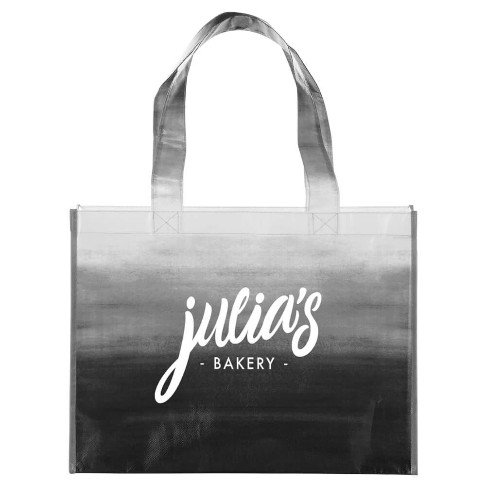 Watercolor Laminated Shopper Tote - Personalization Available