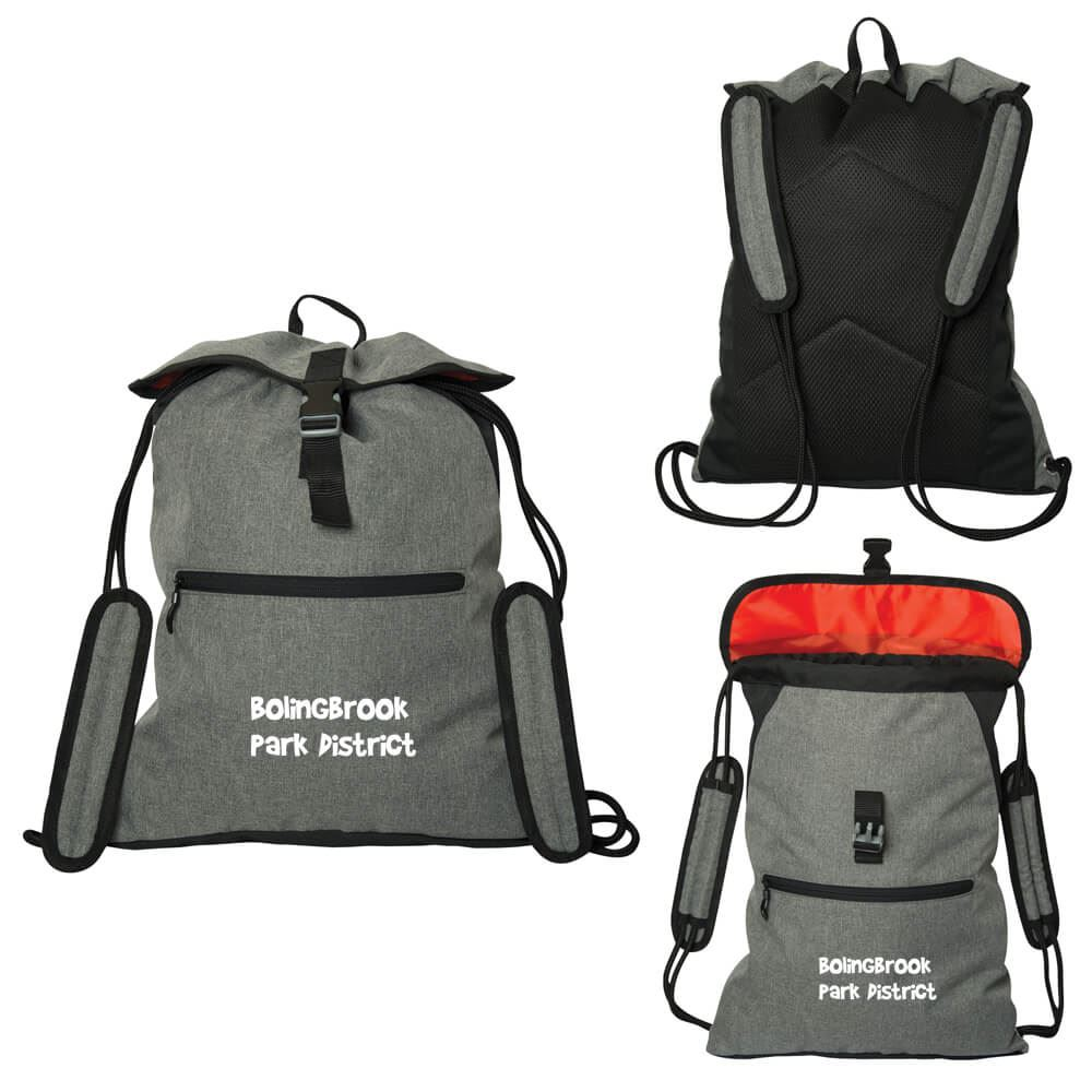 Rosseau Two-Tone Knapsack - Personalization Available