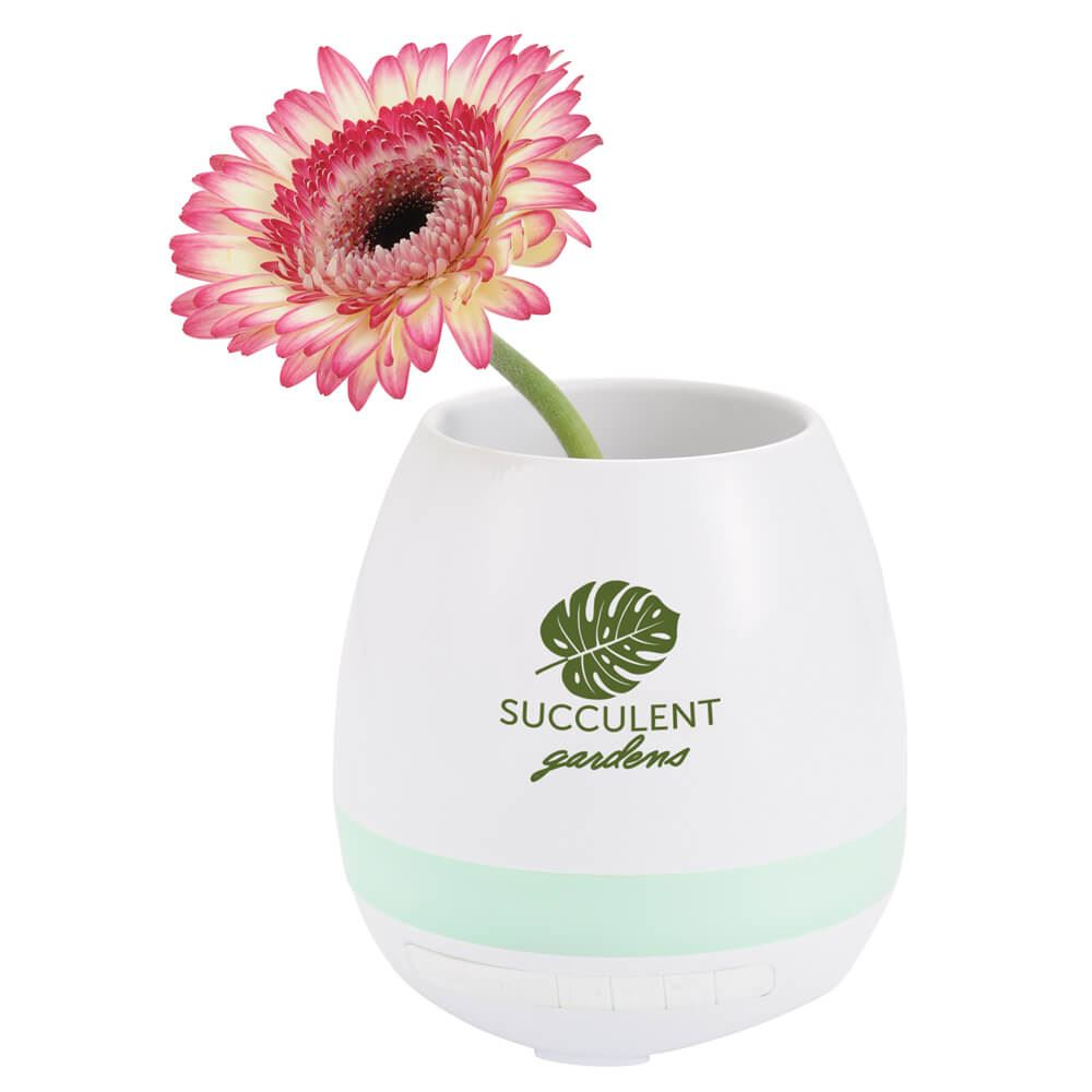 Green Thumb Flower Pot Bluetooth® Speaker - Personalization Available
