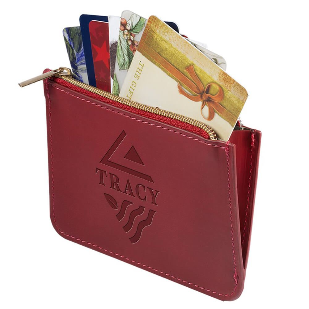 Tuscany™ RFID Zip Wallet Pouch - Personalization Available