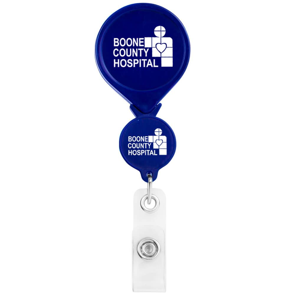 Double Up Round Badge Reel - Personalization Available