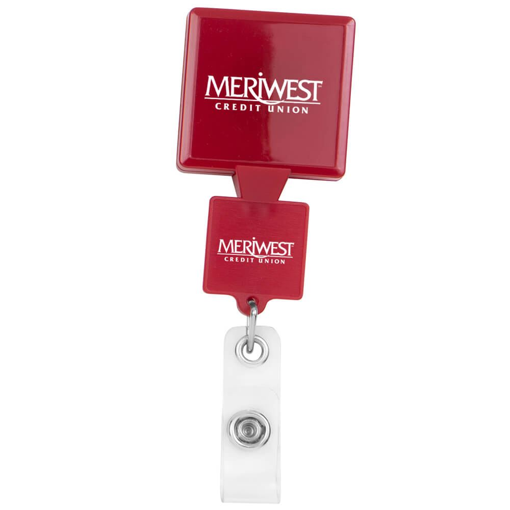 Double Up Square Badge Reel - Personalization Available