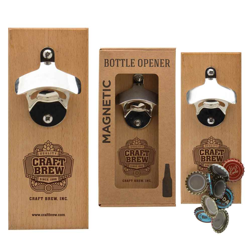 Magnetic Wall Mount Bottle Opener - Personalization Available