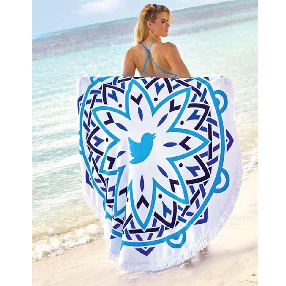 Mandala Fringe 360 Round Beach Towel™ - Personalization Available