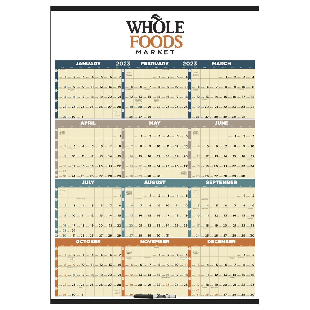Time Management Span-A-Year 2022 Calendar - Personalization Available