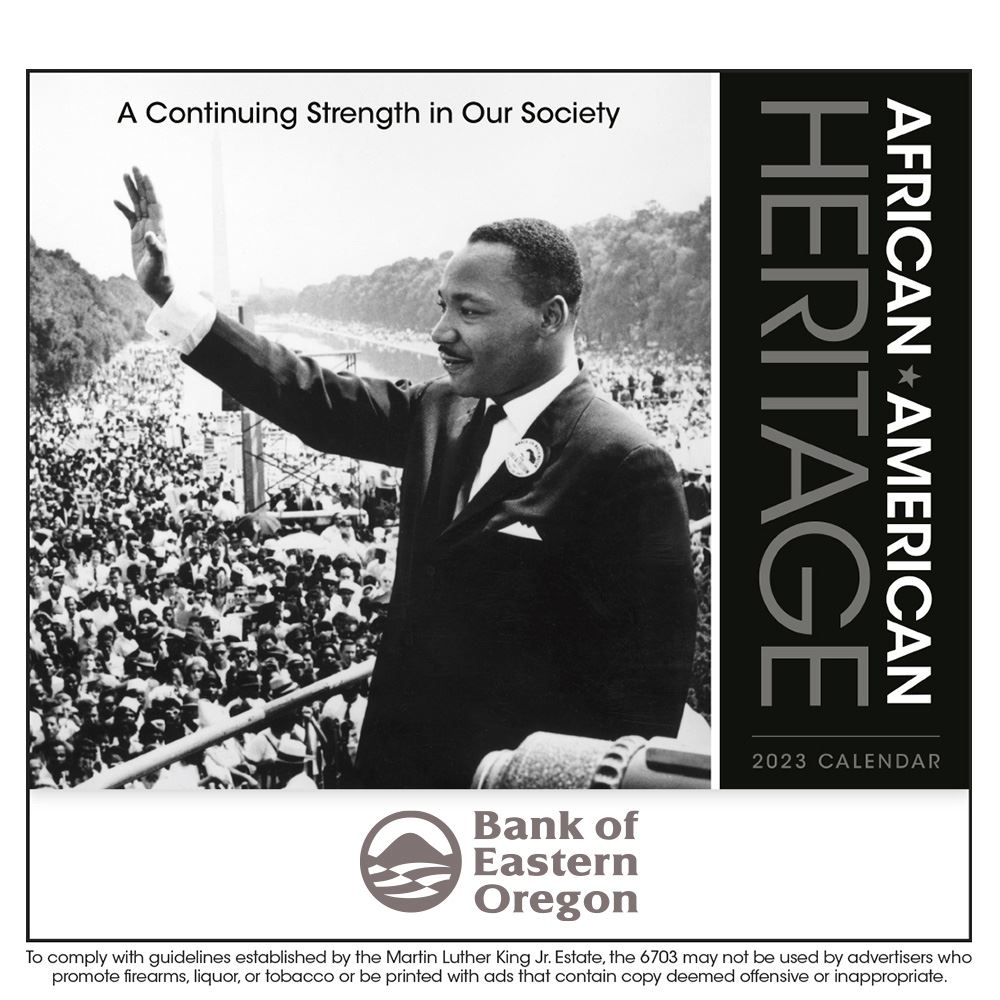 African American Heritage: Dr. Martin Luther King Jr. 2021 Wall Calendar - Stapled - Personalization Available