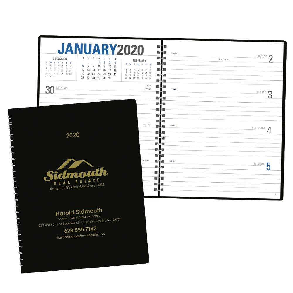 Classic Weekly Planner - Spiral - Personalization Available