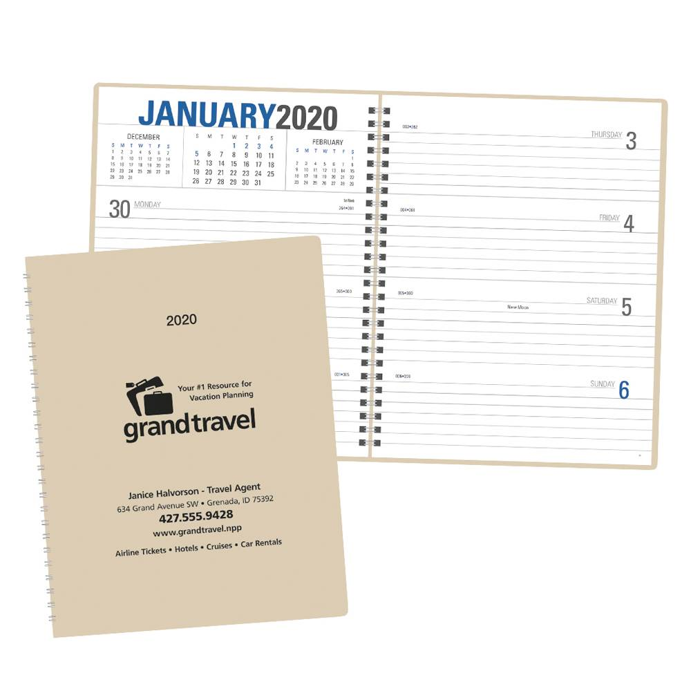 2021 Weekly Planner - Spiral - Personalization Available