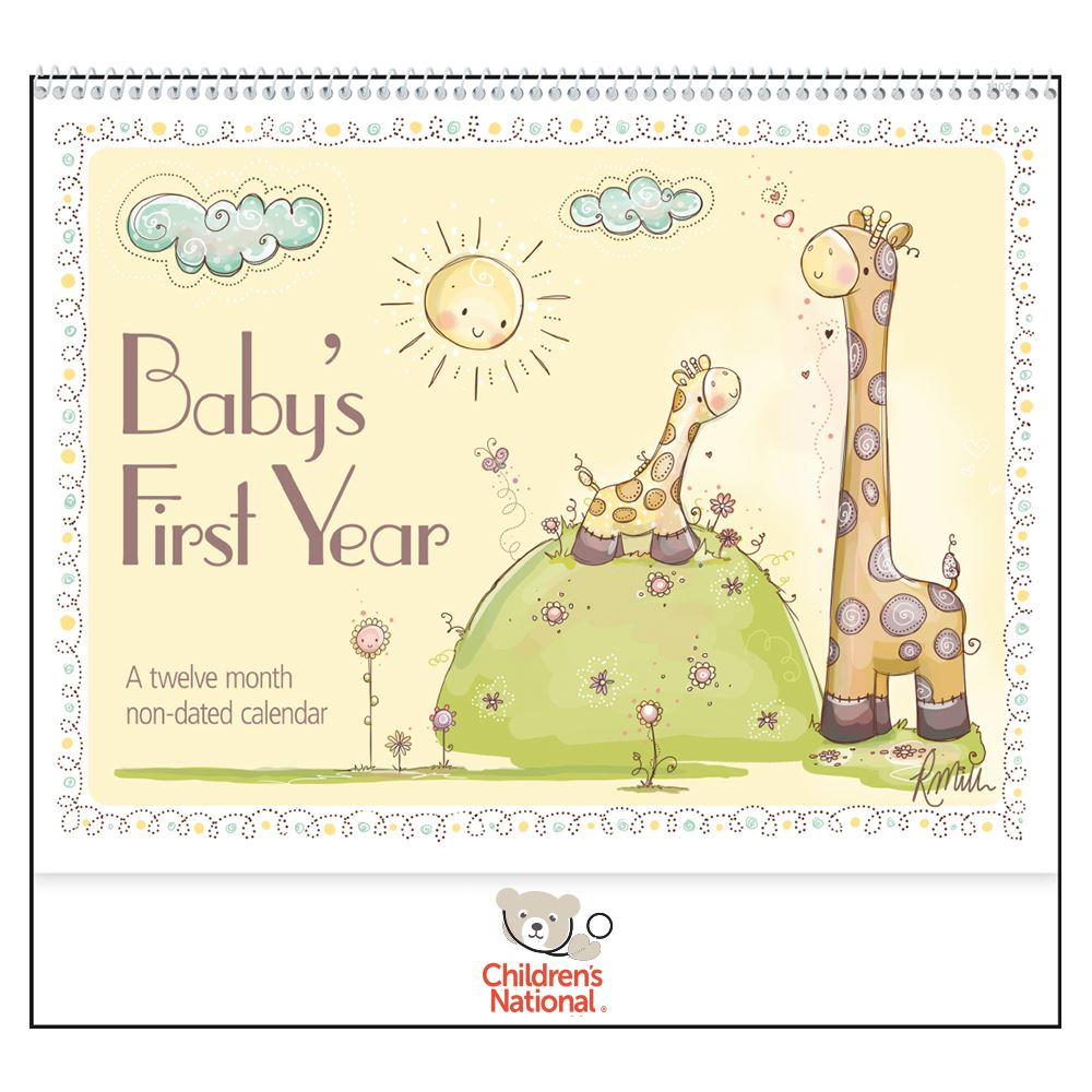 Baby's First Year by Rachelle Anne Miller - Deluxe Appointment Calendar - Spiral - Personalization Available