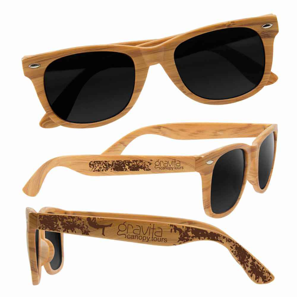 Wood Grain Design Sunglasses - Personalization Available
