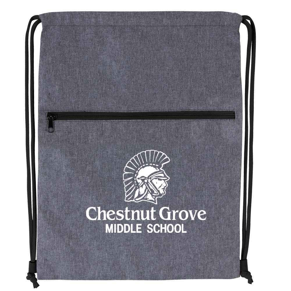 Dovetail Two-Tone Drawstring Backpack - Personalization Available
