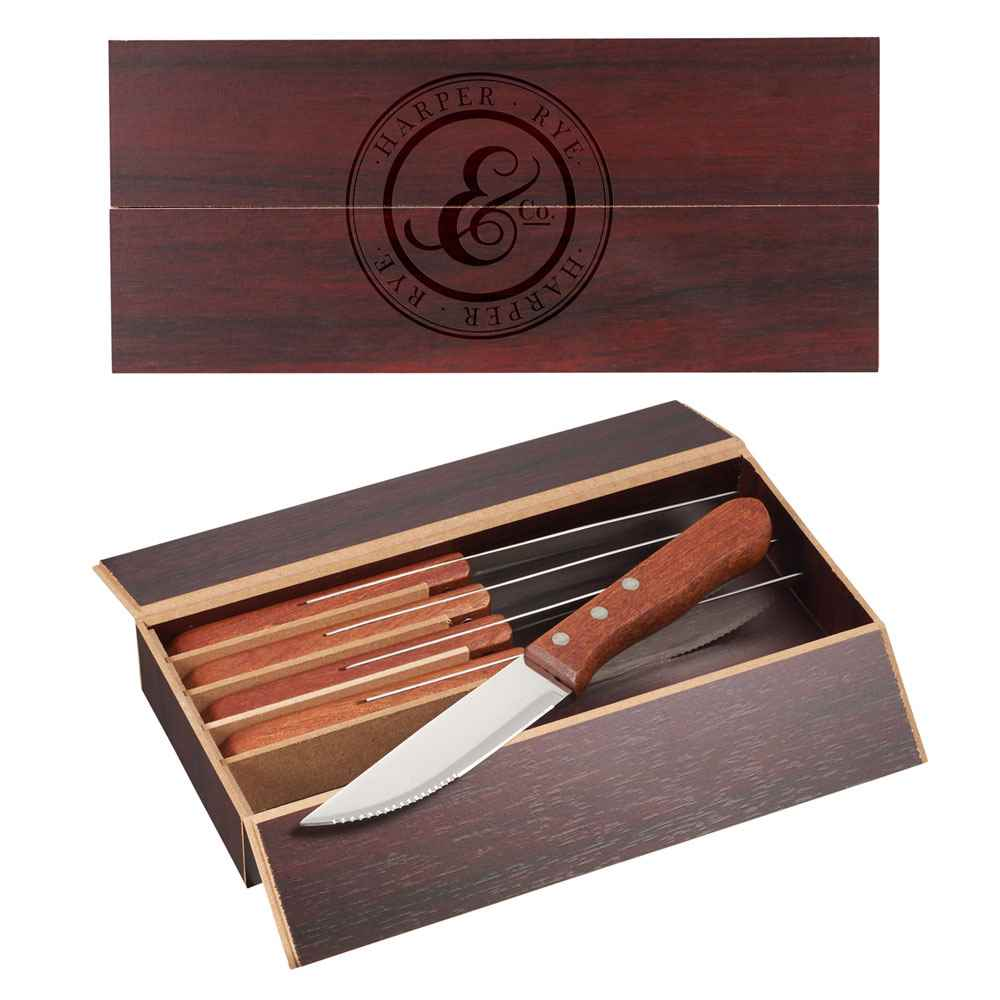6-Piece Oversized Steak Knife Set - Personalization Available