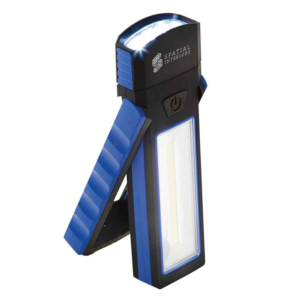 COB Magnetic Worklight With Torch And Stand - Personalization Available