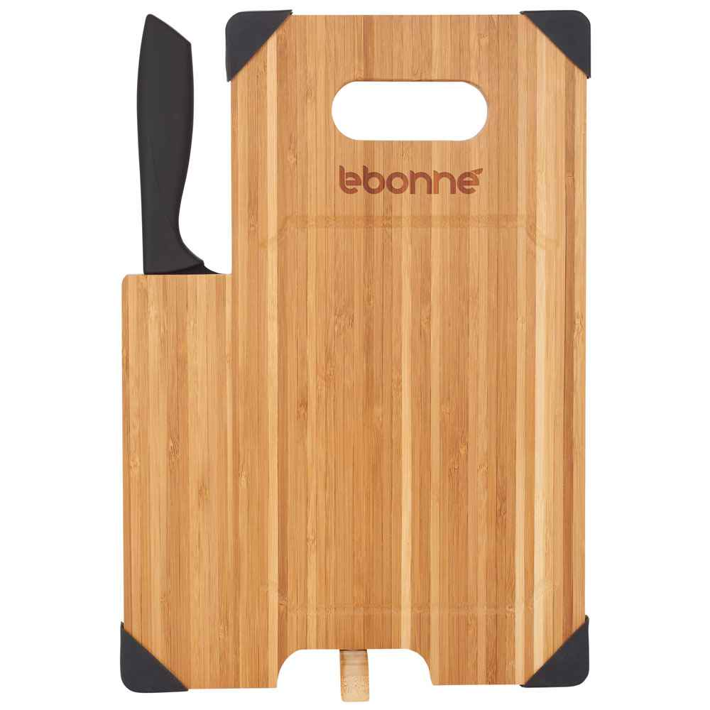 Bamboo Cutting Board with Knife - Personalization Available